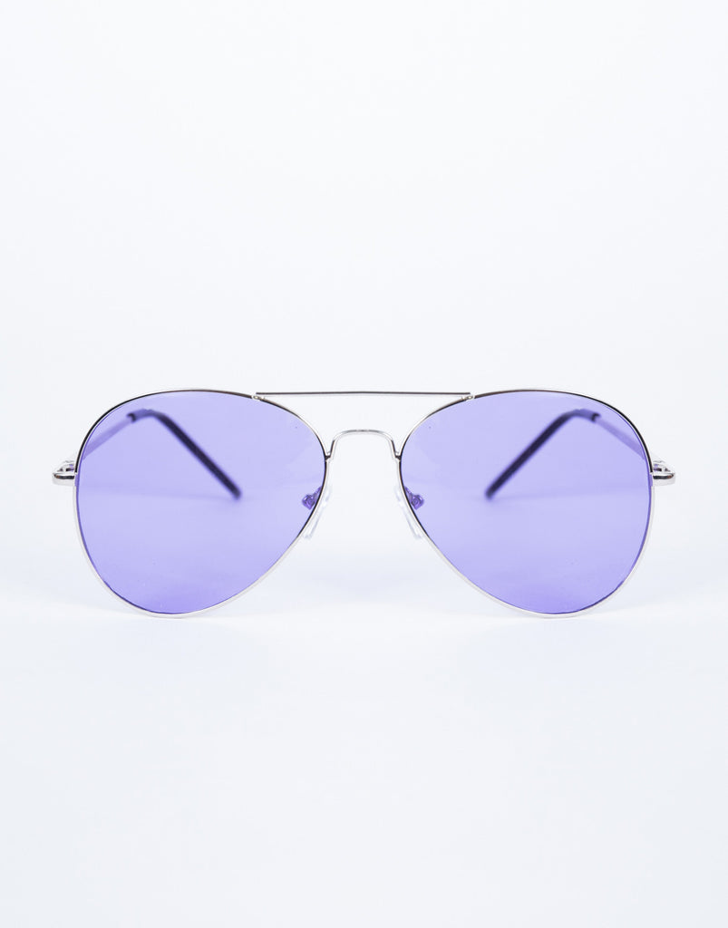 Purple Cooled Down Aviators - Front View
