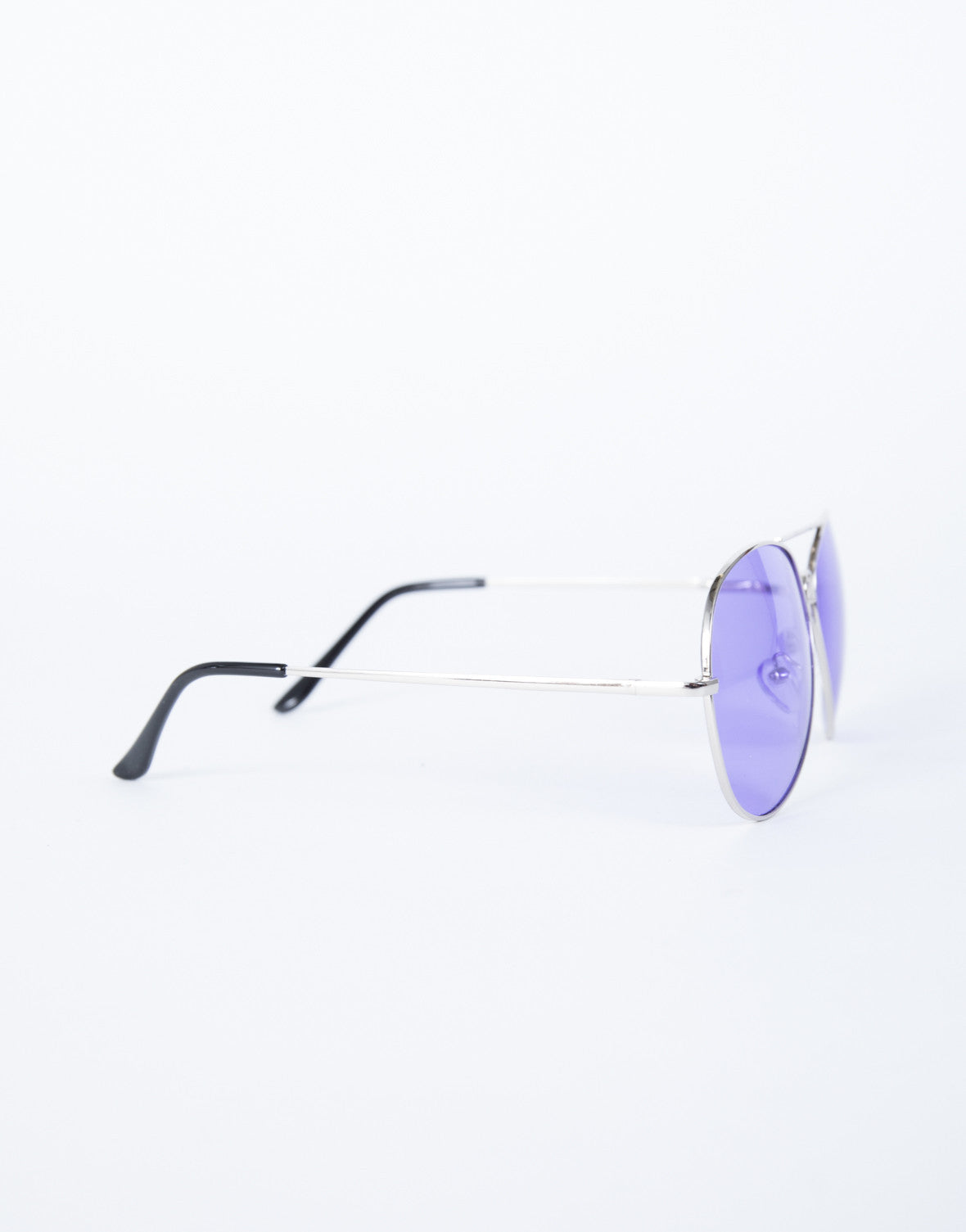 Purple Cooled Down Aviators - Side View