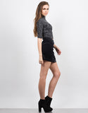Side View of Corduroy Mini Skirt