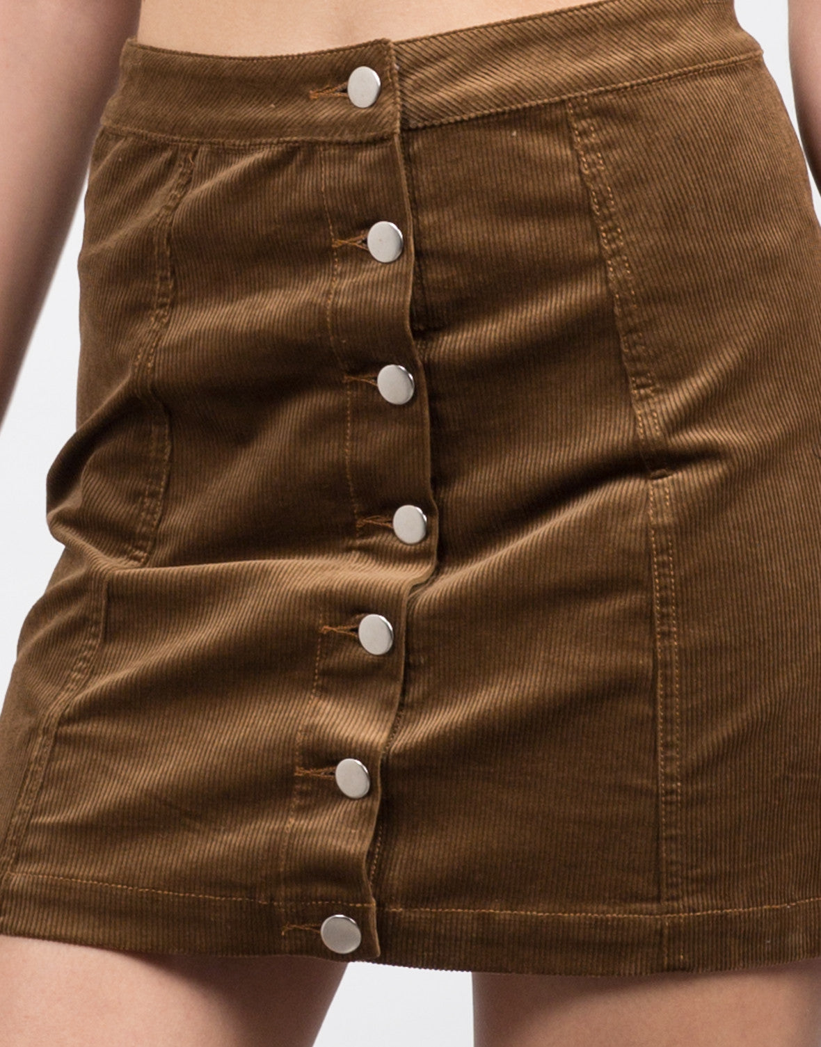 Detail of Corduroy Mini Skirt