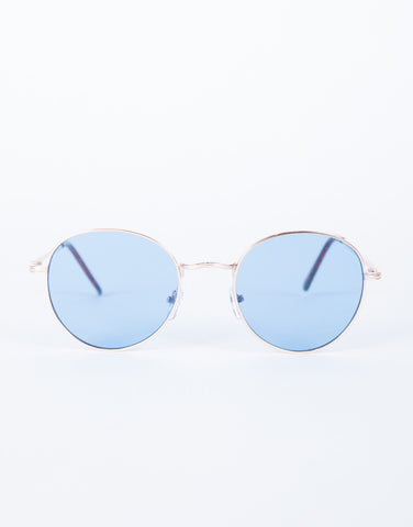 Blue Cotton Candy Sunnies - Front View