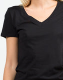 Detail of Cotton V-Neck Tee