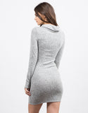 Back View of Cowl Neck Criss Cross Dress