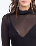 Detail of Cowl Neck Mesh Dress