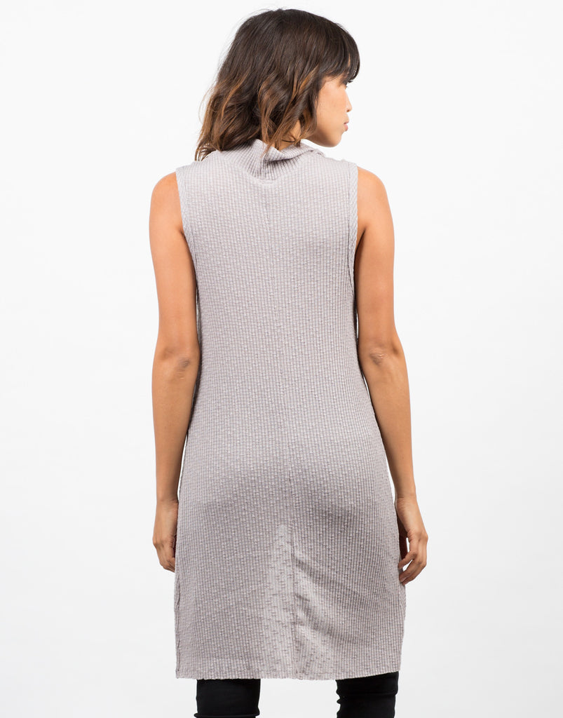 Back View of Cowl Neck Overlap Tank