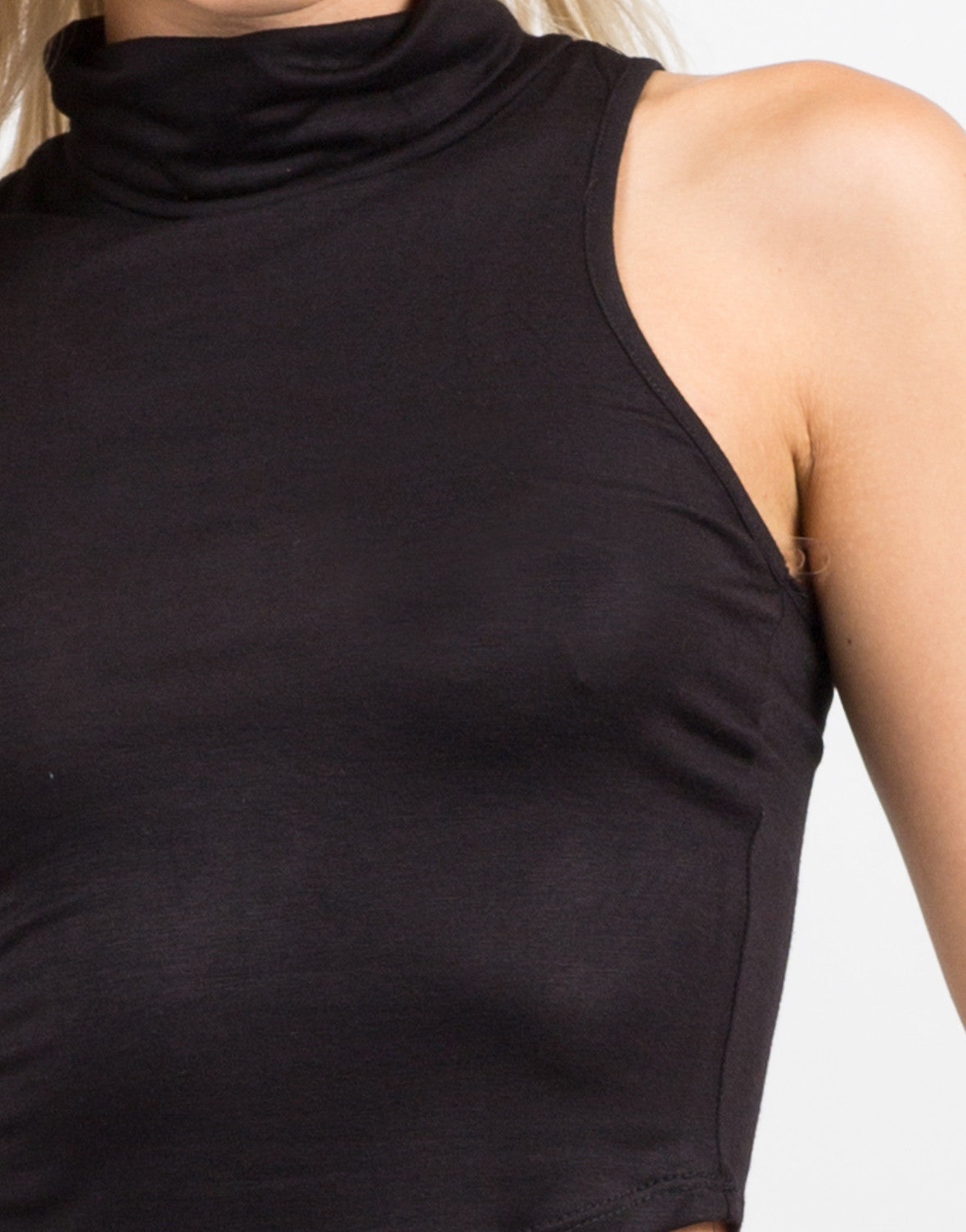 Detail of Cowl Neck Sleeveless Top