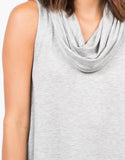 Detail of Cowl Neck Tunic Dress