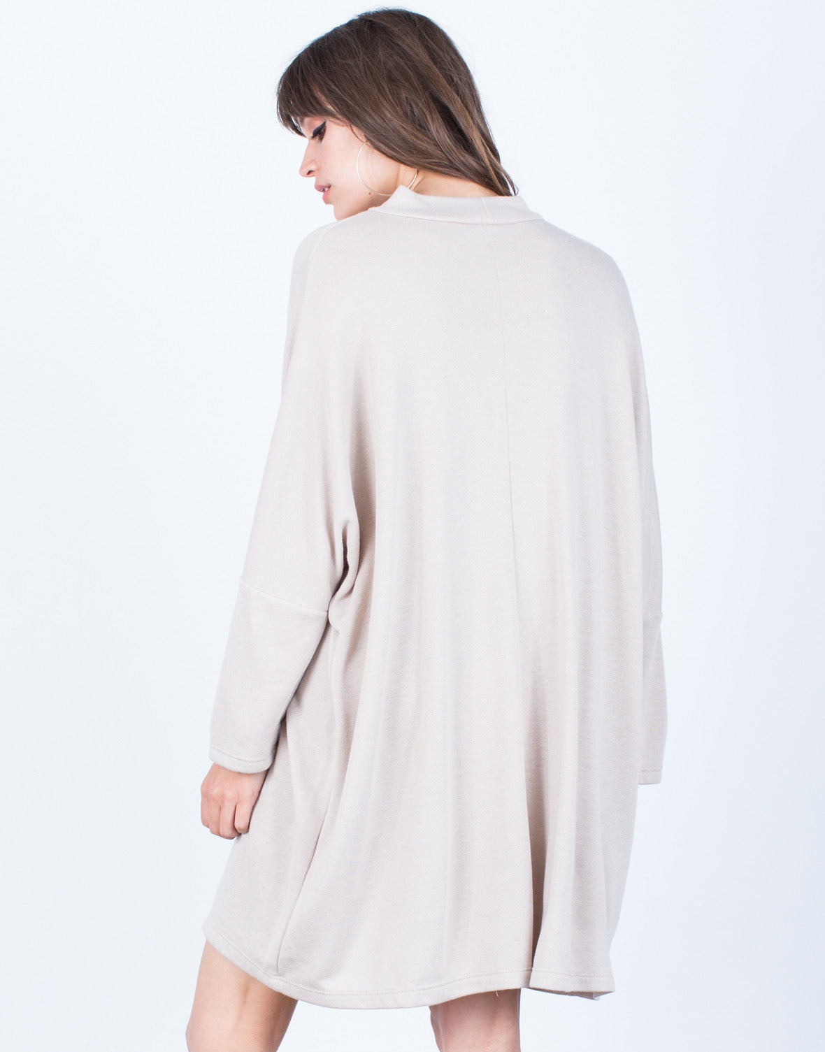 Back View of Cozy Days Choker Dress