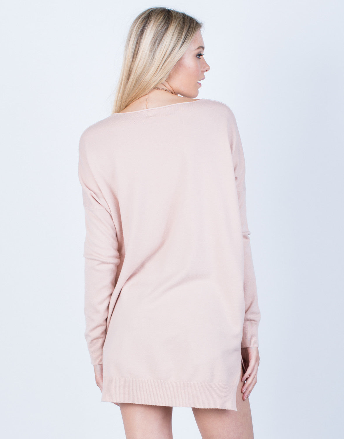Back View of Cozy Oversized Sweater