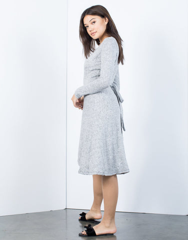 Cozy Time Wrap Dress