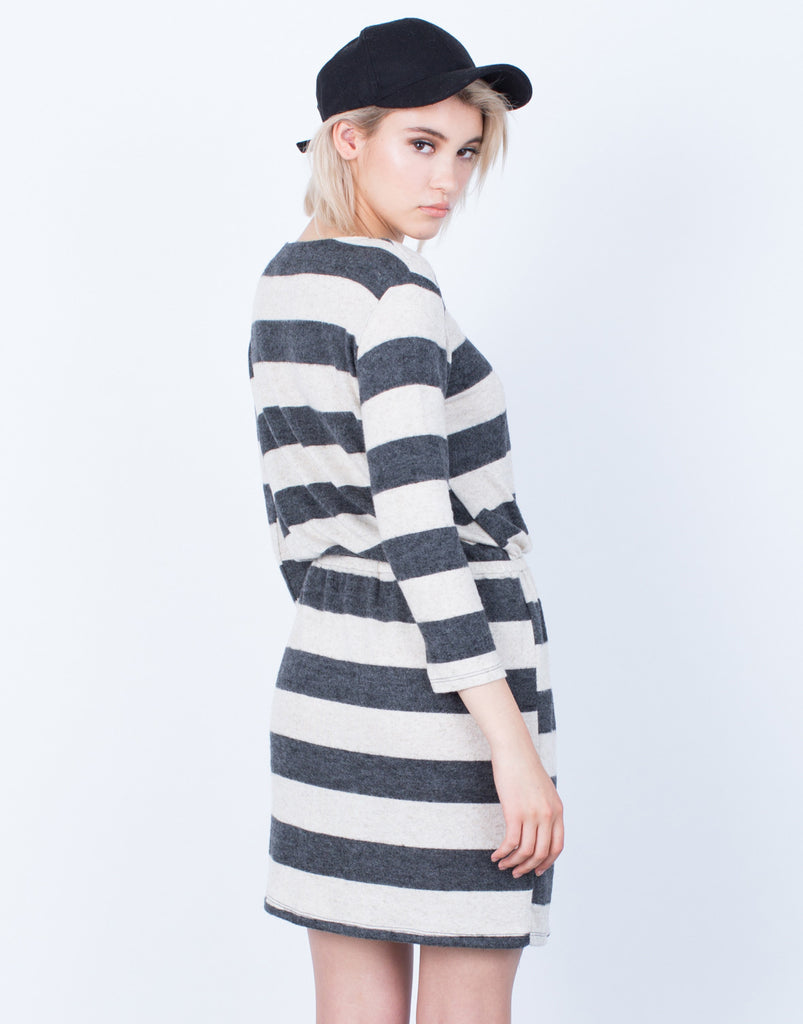 Back View of Cozy Up Knit Dress