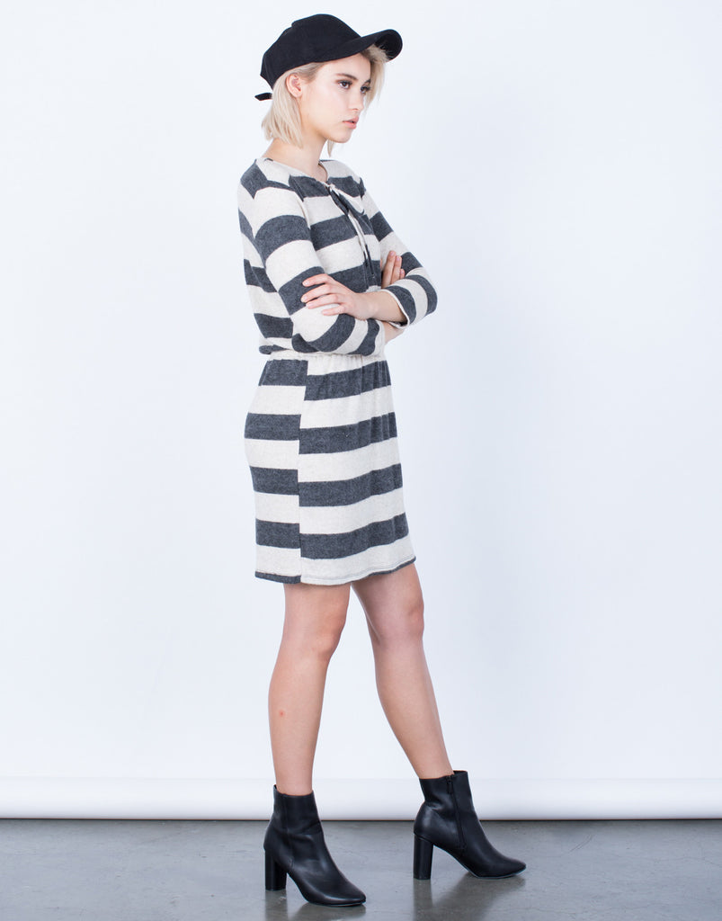 Side View of Cozy Up Knit Dress