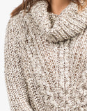 Detail of Cozy Knit Turtleneck Sweater