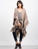 Front View of Cozy Oversized Poncho