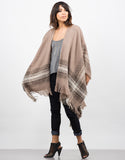 Side View of Cozy Oversized Poncho