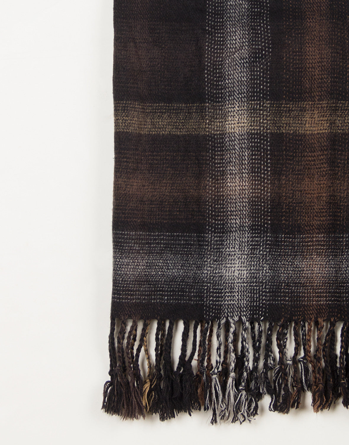 Cozy Plaid Fringe Tube Scarf