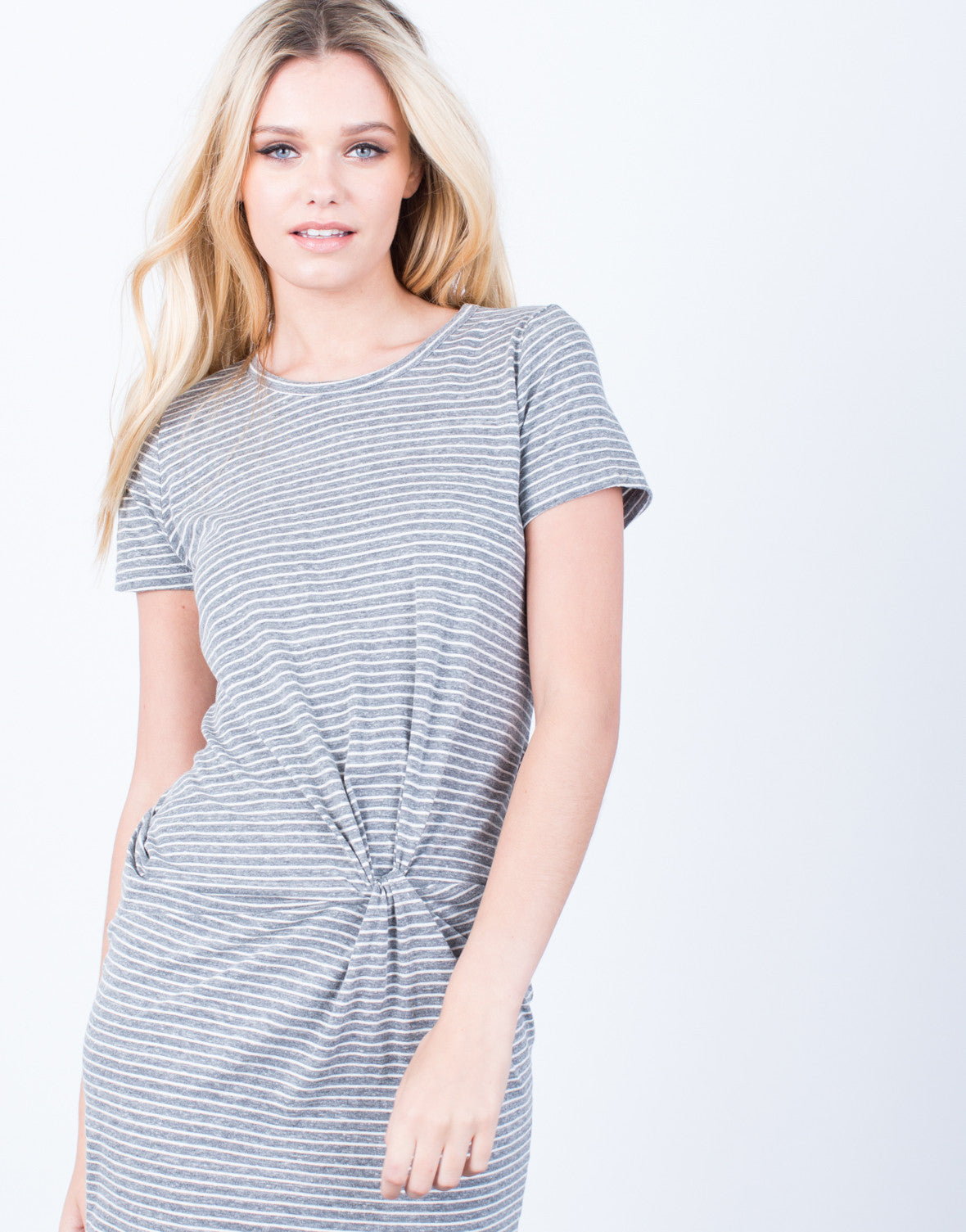 Detail of Crazy For Stripes Tee Dress