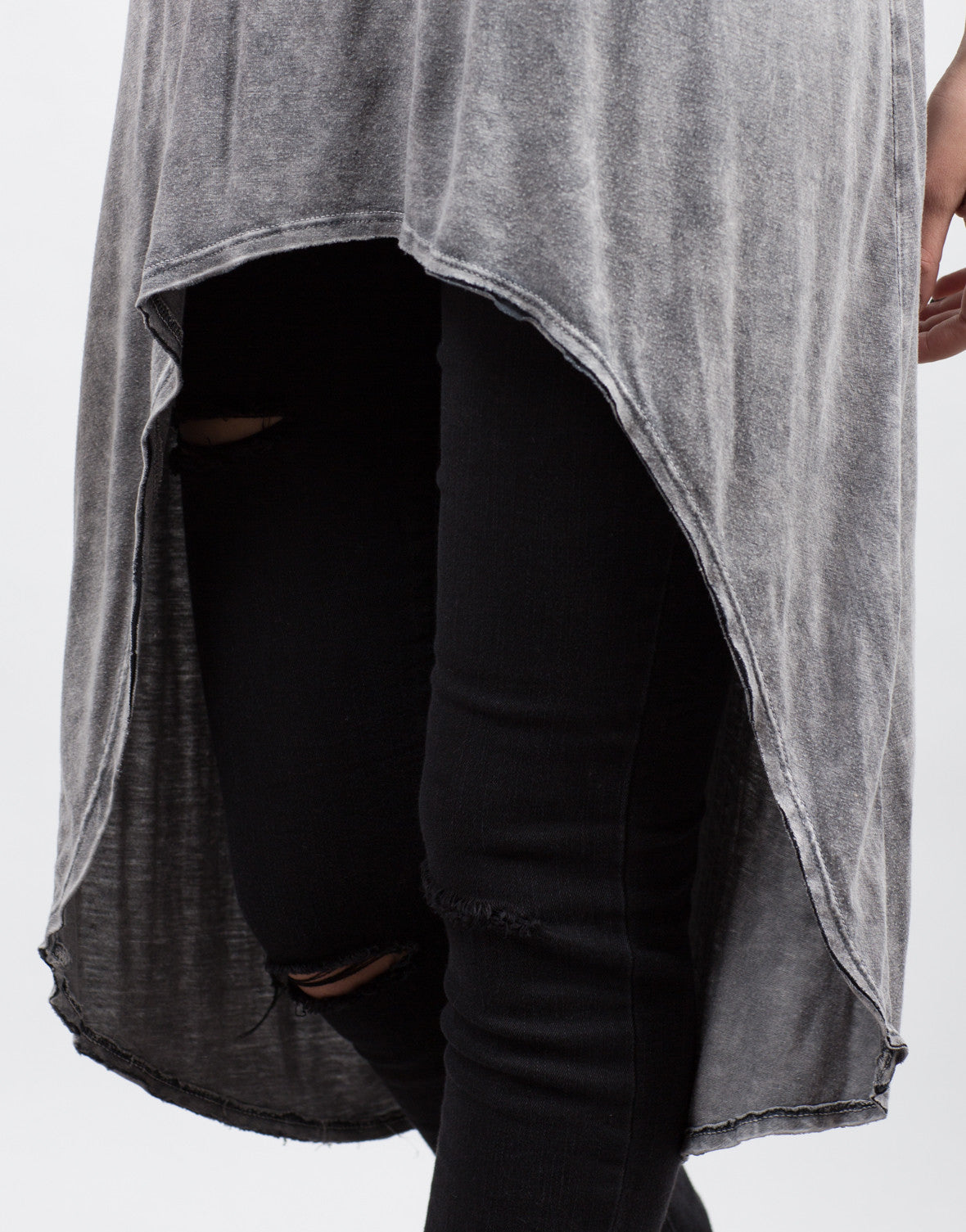 Detail of Crazy Soft Hi-Low Tee