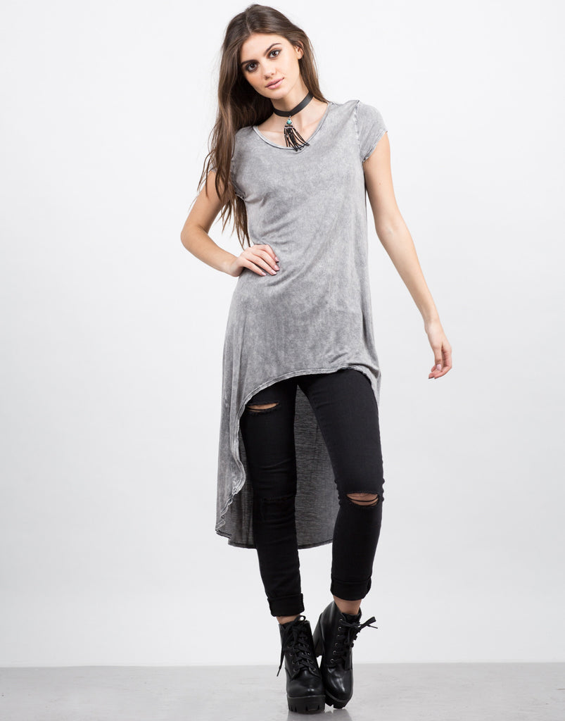 Front View of Crazy Soft Hi-Low Tee