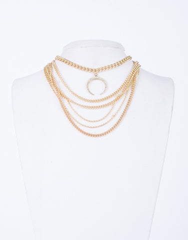 Crescent Choker Necklace