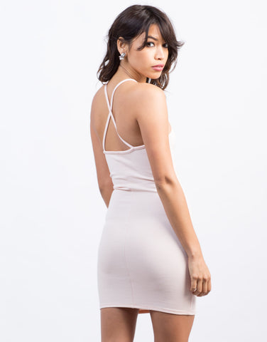Back View of Criss Cross Bodycon Dress