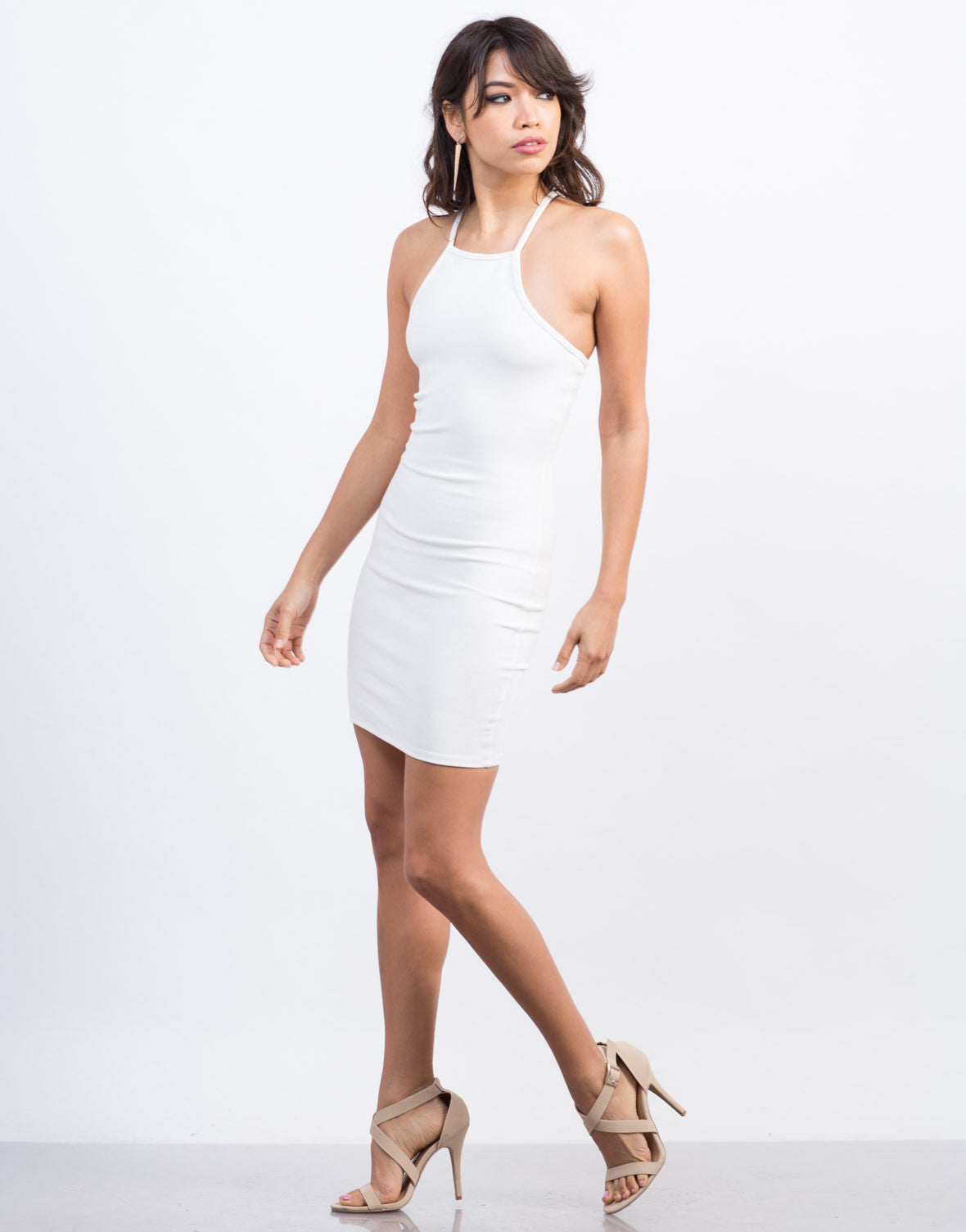 Side View of Criss Cross Bodycon Dress