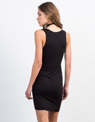 Back View of Criss Cross Choker Dress