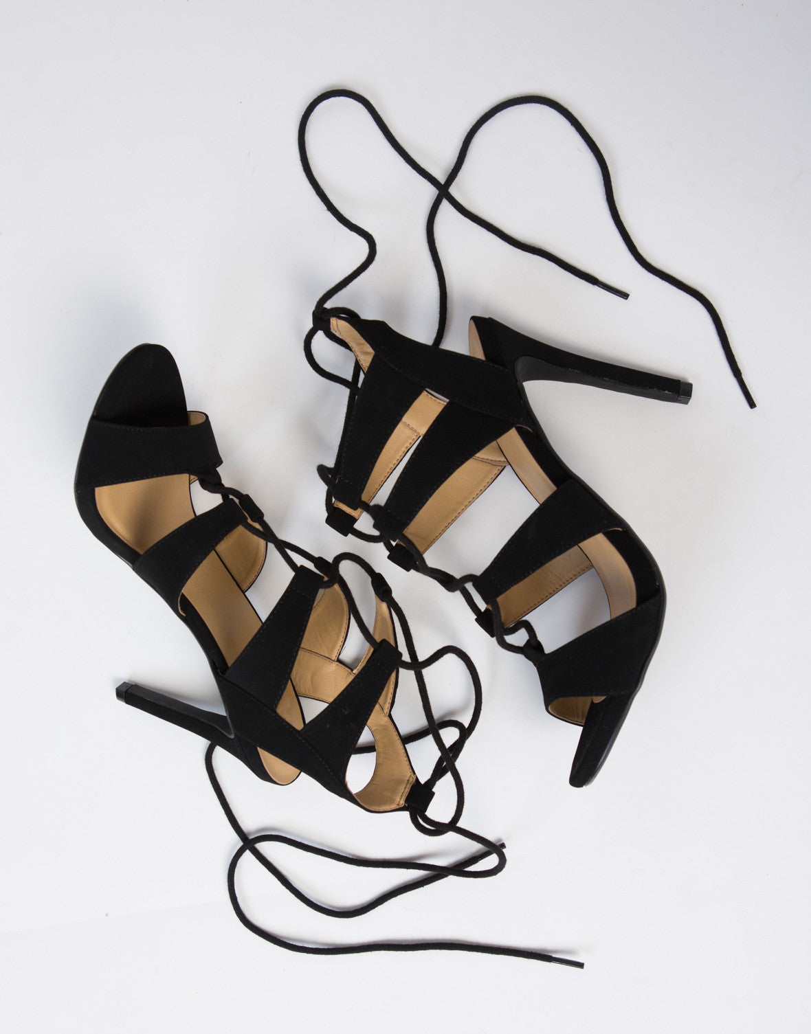 Criss Cross Lace-Up Heels