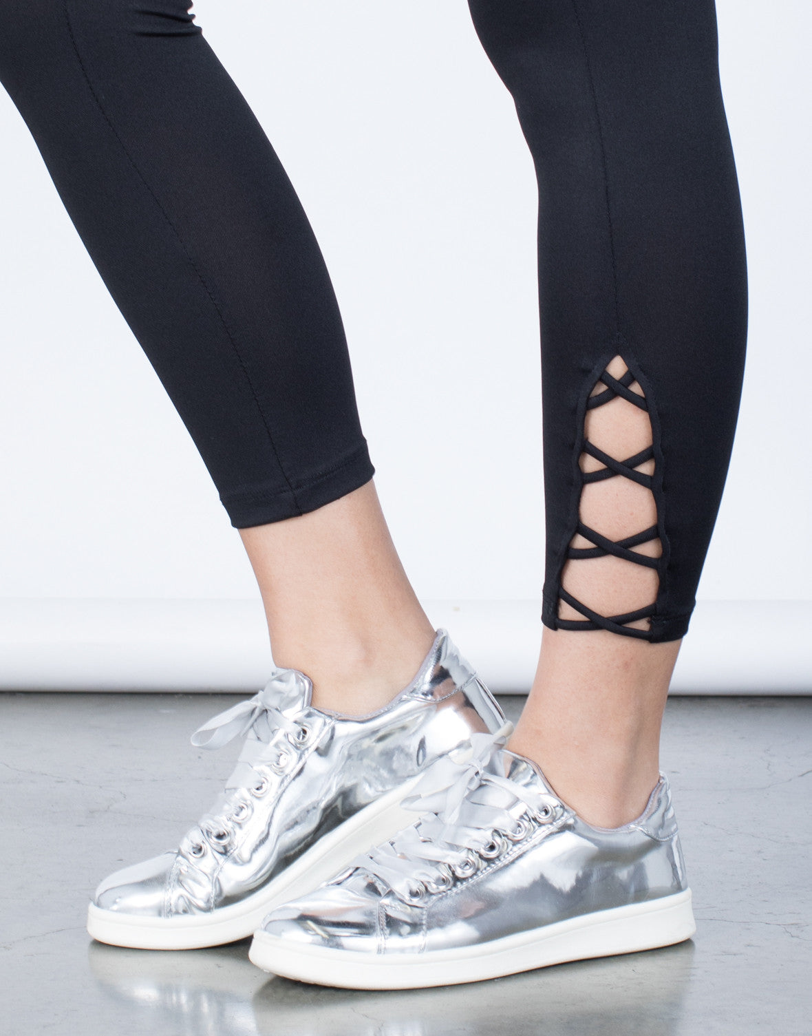 Detail of Criss Cross Leggings