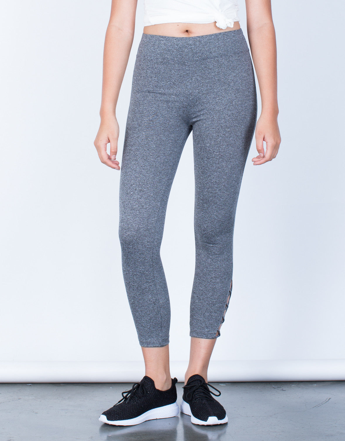 Front View of Criss Cross Leggings