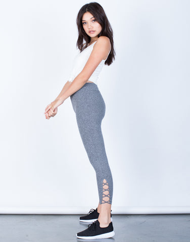 Side View of Criss Cross Leggings