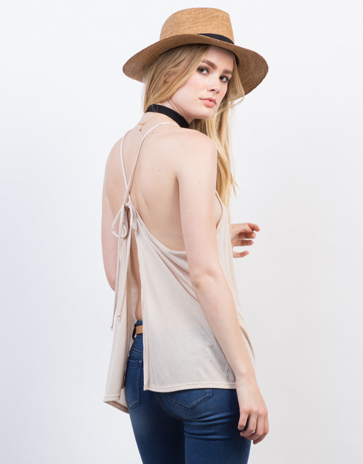 Back View of Criss Cross Open Back Tank