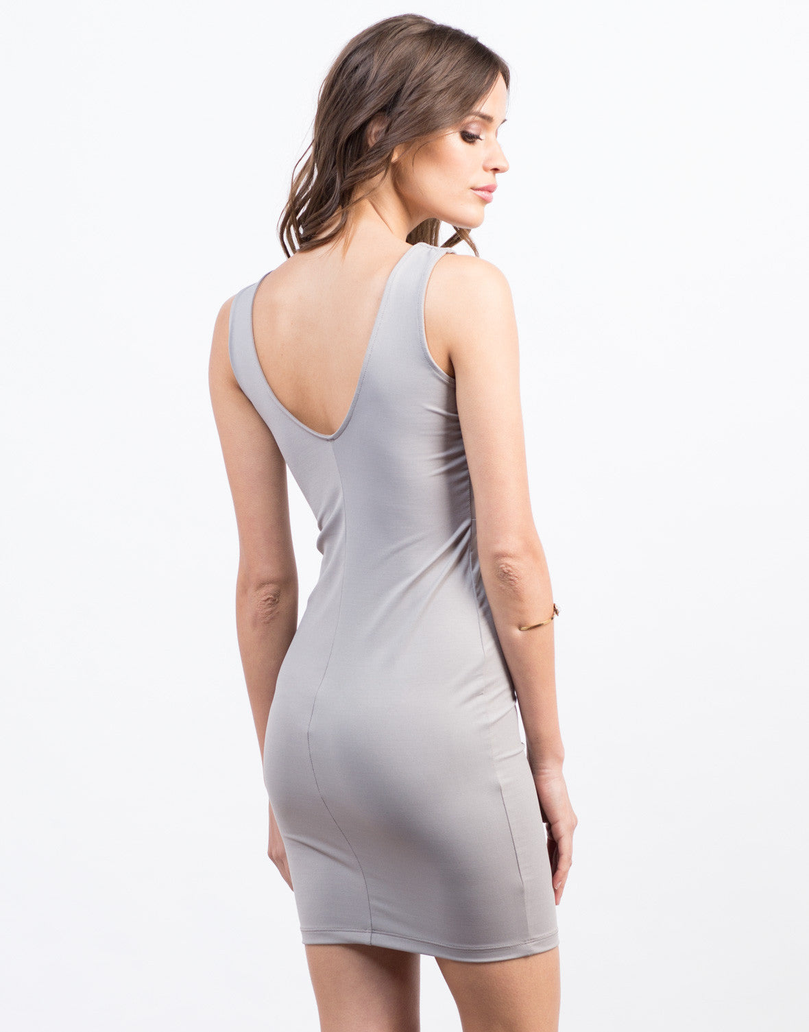 Back View of Criss Cross Party Dress