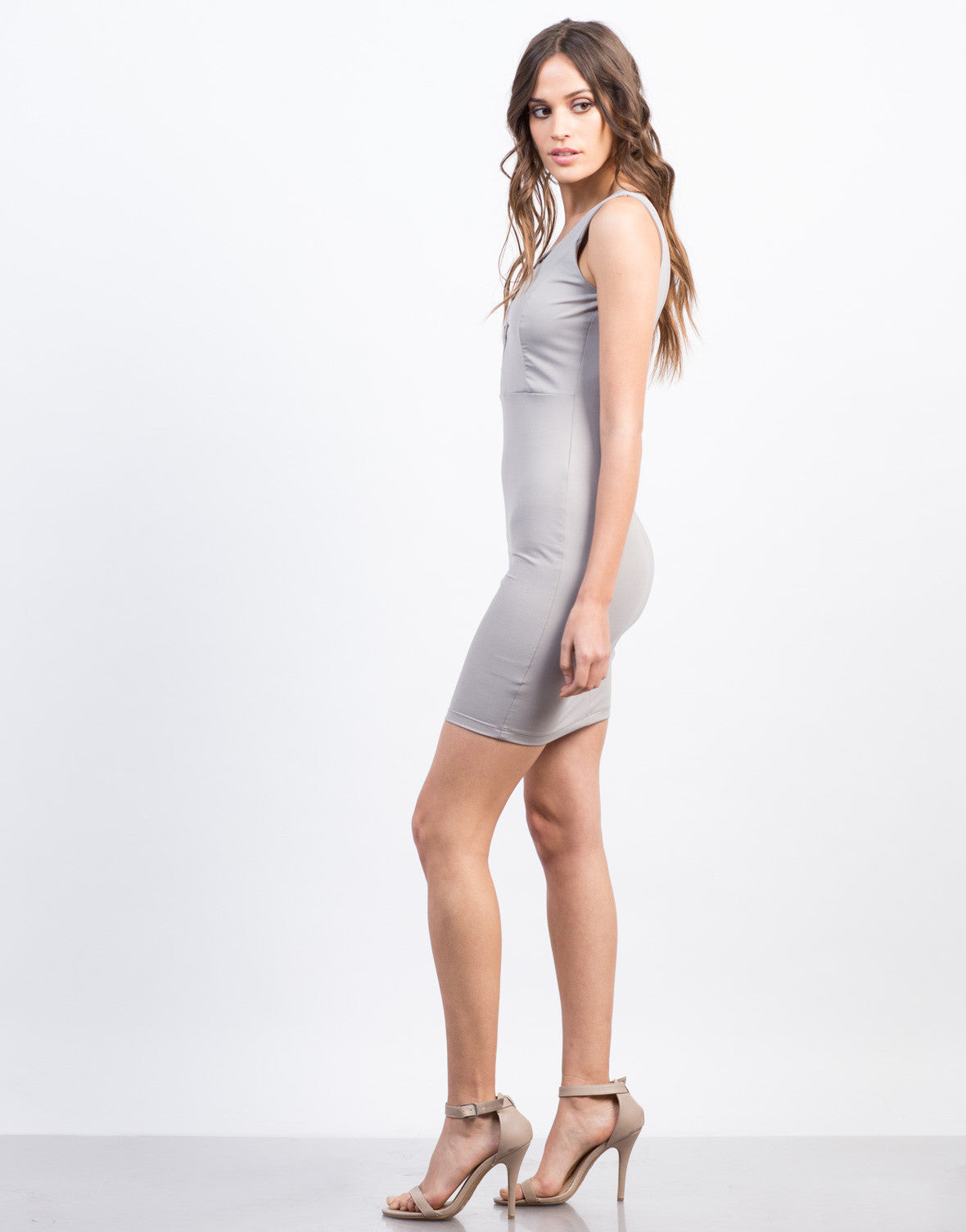 Side View of Criss Cross Party Dress