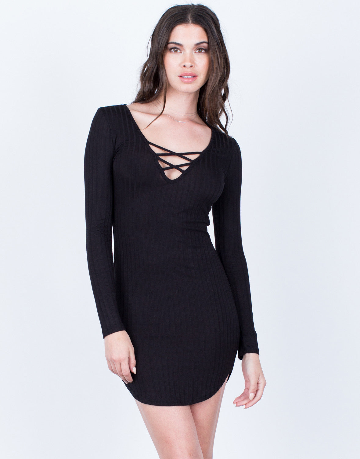 Criss Cross Ribbed Dress - 2020AVE