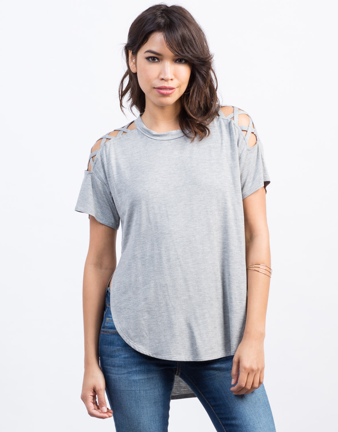 Criss Cross Shoulder Top - 2020AVE