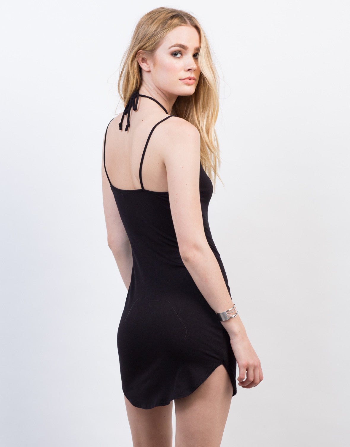 Back View of Criss Cross Strappy Dress