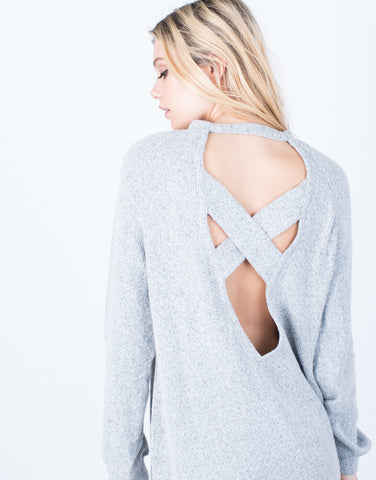 Detail of Criss Cross Sweater Top