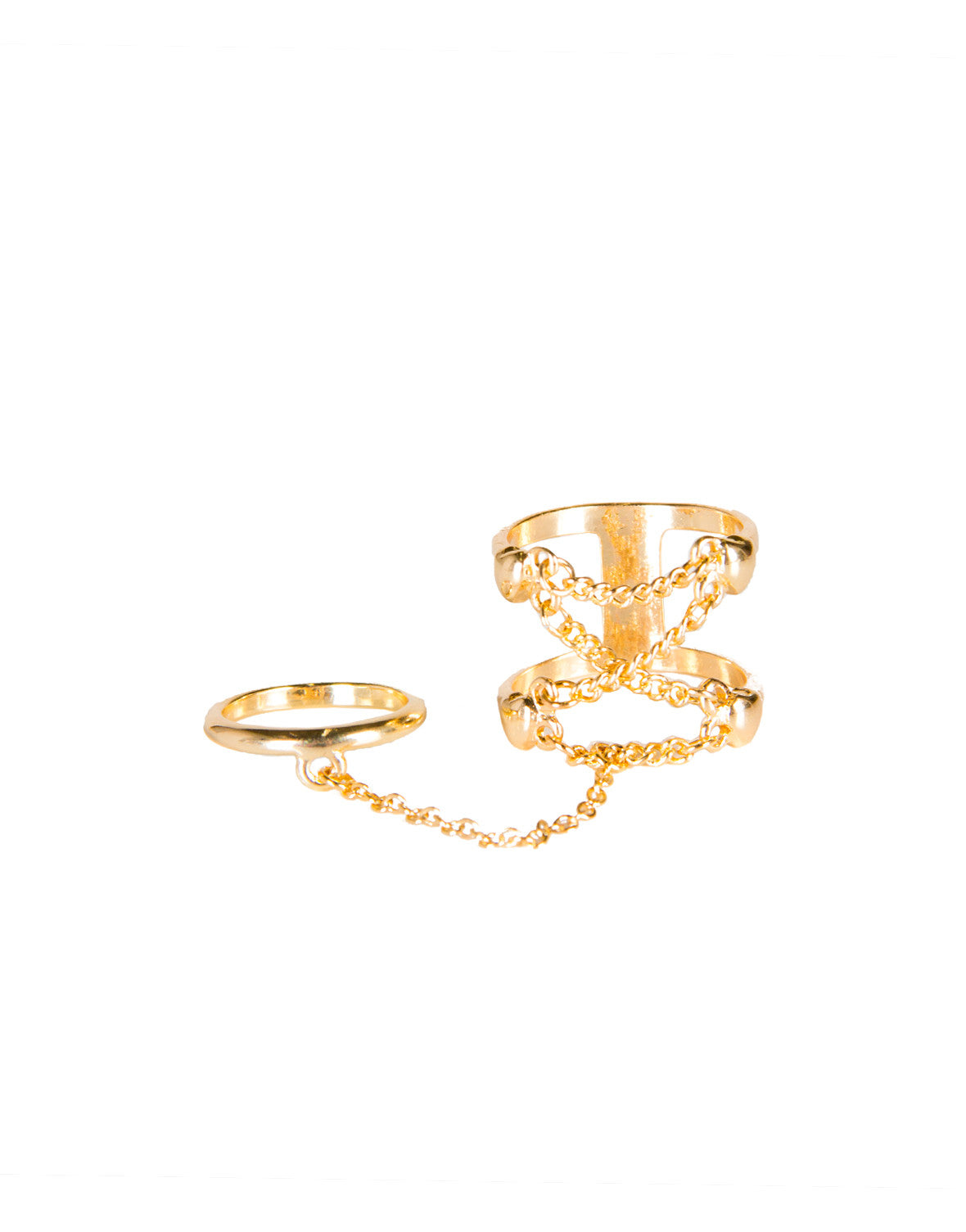 Criss Cross Chain Connected Ring Set