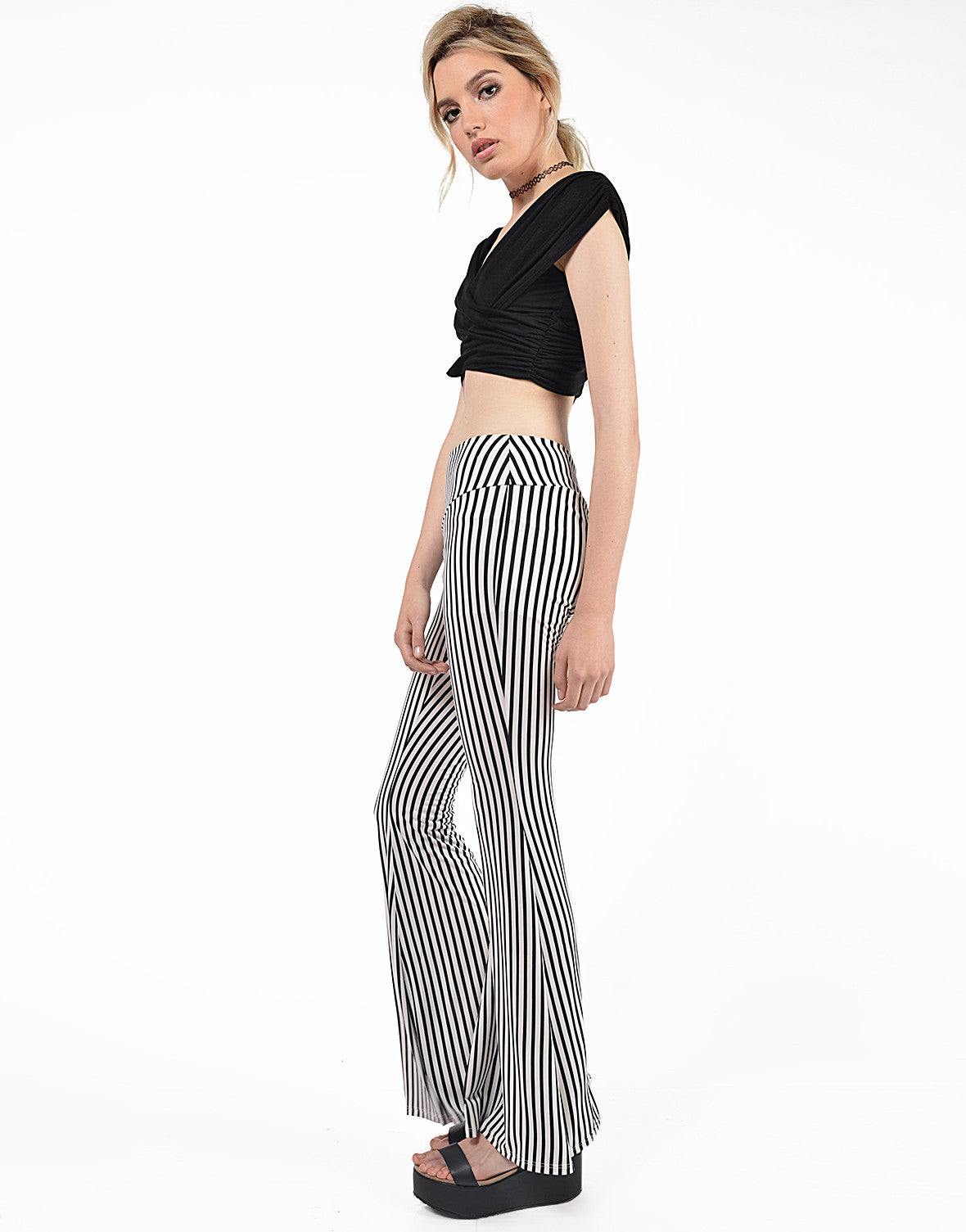 Side View of Criss Cross Cropped Top