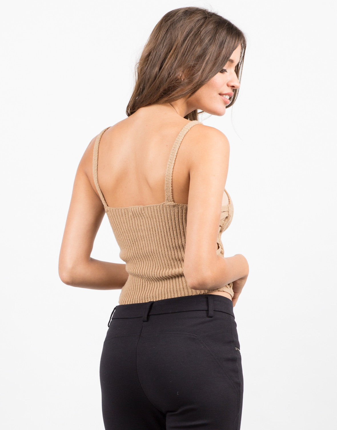 Back View of Criss Cross Crop Top