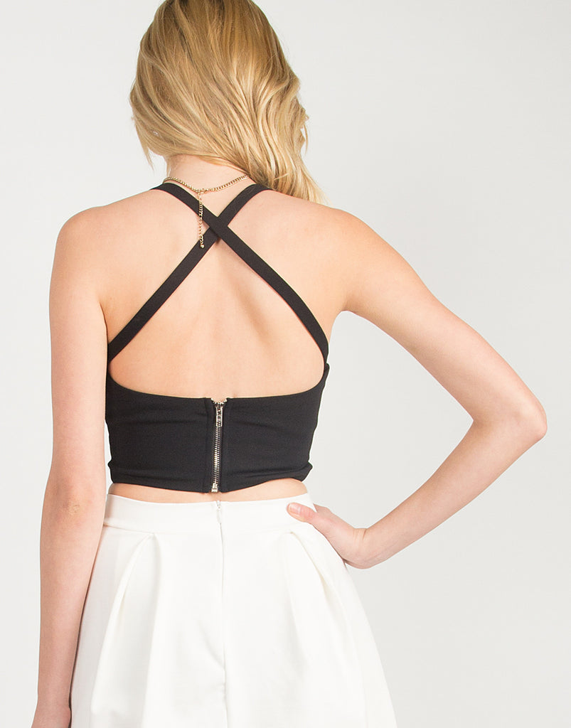 Criss Cross Front and Back Cropped Top - 2020AVE