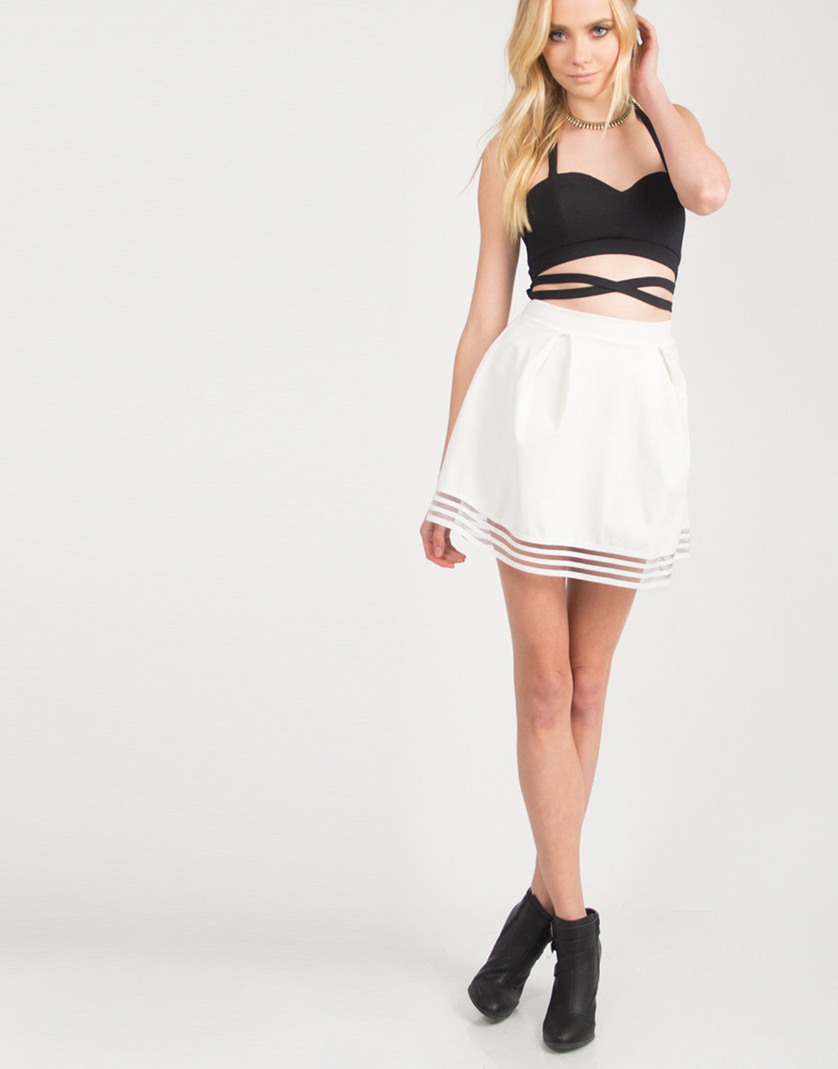 Criss Cross Front and Back Cropped Top