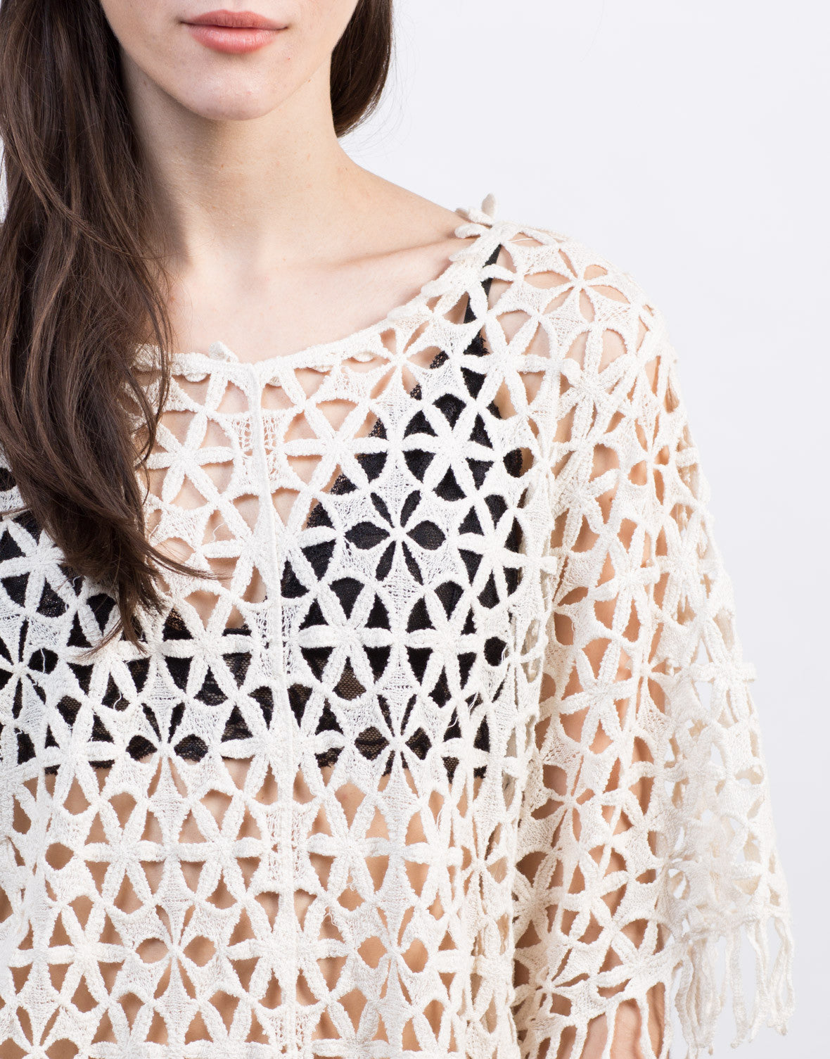 Detail of Crochet Fringe Top