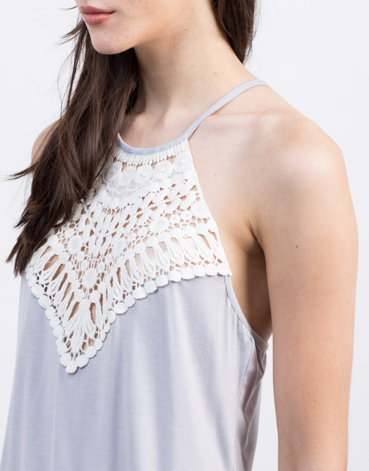 Detail of Crochet Front Strappy Top