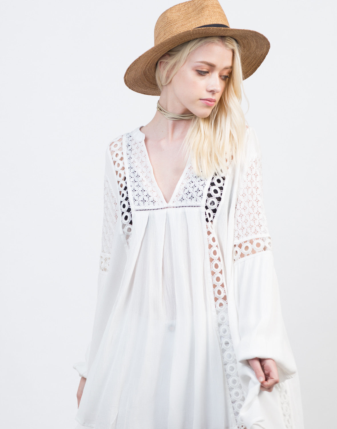 Detail of Crochet Lace Boho Dress