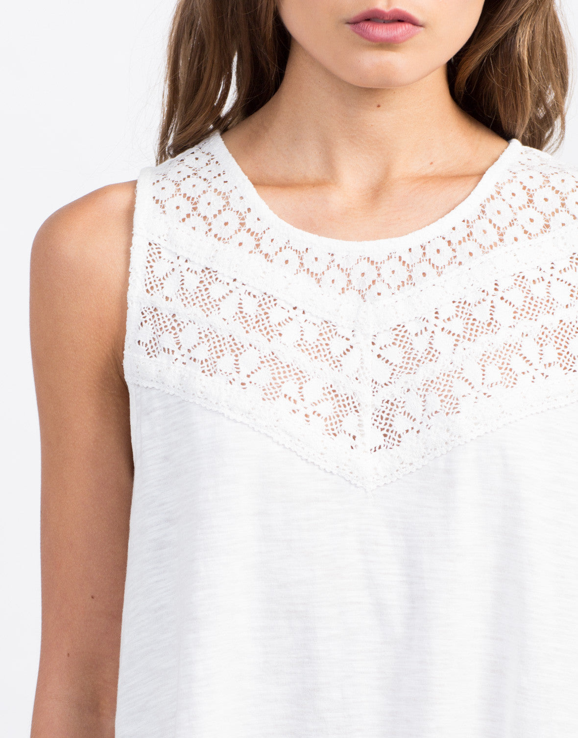 Detail of Crochet Lace Shift Dress