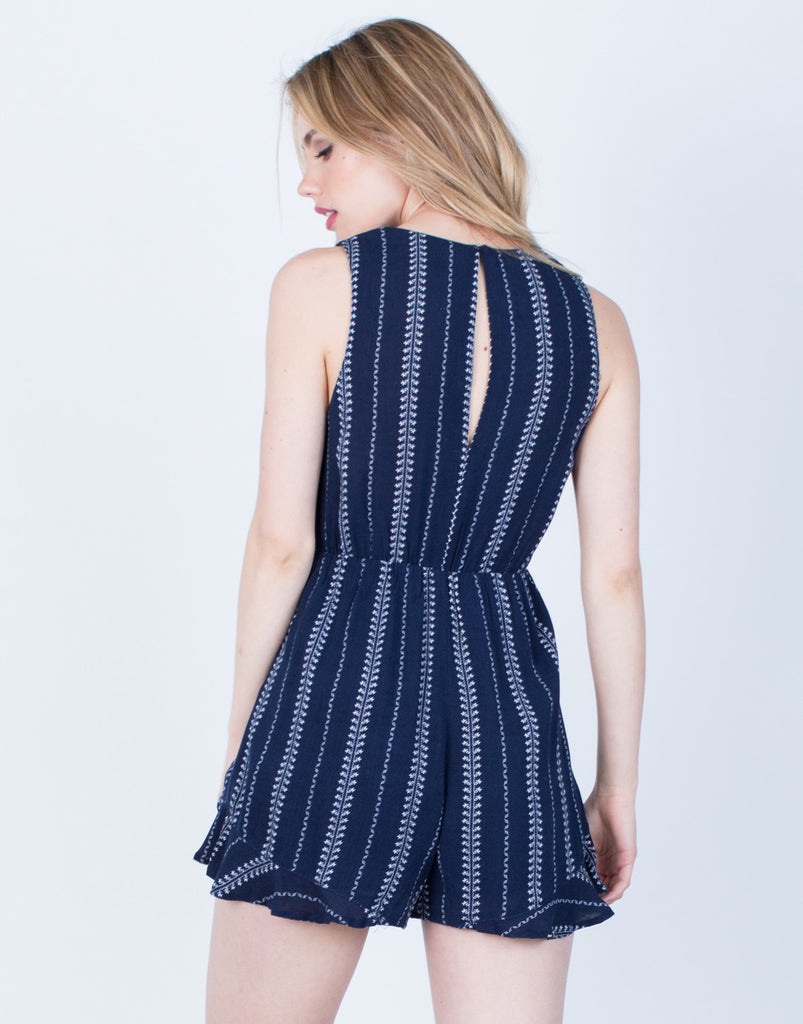 Back View of Crochet Lined Romper