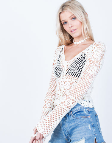 Detail of Crochet Netted Top