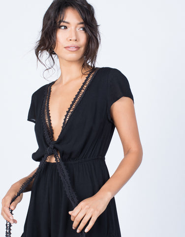 Detail of Crochet Nights Romper